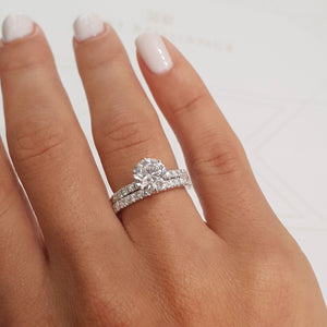 2.5 Carat Round Brilliant D SI1 Diamond Engagement Ring -14K White Gold #J99119