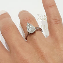 Load image into Gallery viewer, The Jessica Engagement Ring  - 2 Carat Pear D VS2 - 14K White Gold Ring #J99165