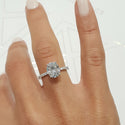 INCREDIBLE 2.5 CARAT OVAL FOREVER ONE SET IN 14K WHITE GOLD