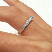 Load image into Gallery viewer, 0.5 Carat Diamond European Wedding Band - 14K White Gold Channel Setting #1969BW