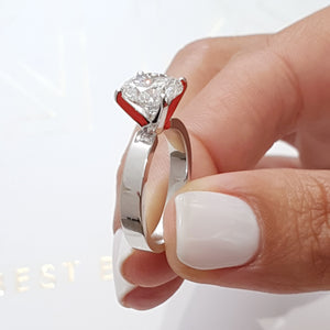 The Kaia Engagement Ring - 2 CARAT ROUND BRILLIANT E VS2 SOLITAIRE RING - 14K WHITE GOLD #J99183