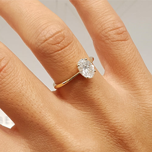 2 Carat Oval DVVS1- 14K ROSE Gold Forever One Engagement Ring