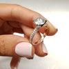 BEAUTIFUL 3 CARAT FOREVER ONE D VVS1 ENGAGEMENT RING - 14K ROSE GOLD BAND & WHITE GOLD PRONGS #M10007