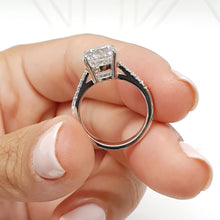 Load image into Gallery viewer, The Anna Engagement Ring - 2.12 Carat F VS2 Round Diamond Ring 14K White Gold #J99196