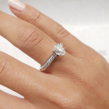 Load image into Gallery viewer, The Talia Engagement Ring  - 1 Carat Oval F VS2 - 14K White Gold Diamond Ring #J99203