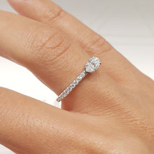 Load image into Gallery viewer, Stacking Ring - Marquise Cut Diamond in Pave style 14k White Gold #J99198