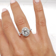 Load image into Gallery viewer, The Maria Lab Grown Ring - 2 CARAT F VS1 OVAL SHAPED DIAMOND SET IN 14K WHITE GOLD ENGAGEMENT RING #LG10002