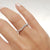 0.44 Carat Diamond Wedding Band - 14K White Gold Curved Setting #J99216