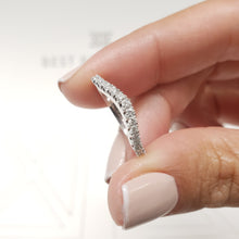 Load image into Gallery viewer, 0.44 Carat Diamond Wedding Band - 14K White Gold Curved Setting #J99216