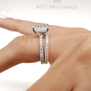 The Audrey Bridal Set - 2.5 CARAT RADIANT SHAPED F VS2 DIAMOND SET #J99218