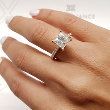 Load image into Gallery viewer, 2.25 CARAT PRINCESS SHAPED F VS2 BEAUTIFUL DIAMOND ENGAGEMENT RING #J99220