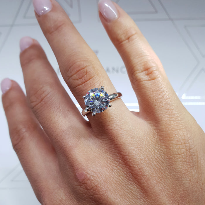 1.8 CARAT LAB CREATED ROUND STONE - SOLITAIRE ENGAGEMENT RING