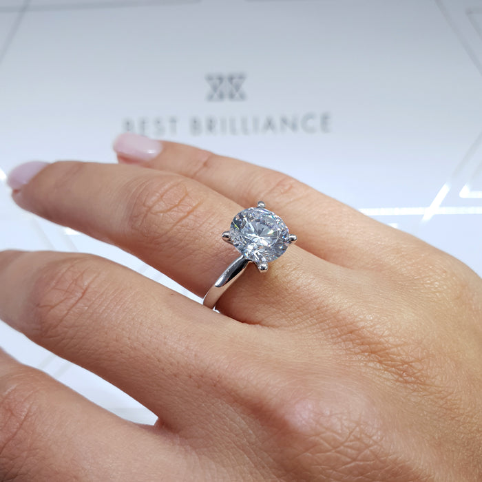 1 CARAT LAB CREATED ROUND STONE - SOLITAIRE ENGAGEMENT RING
