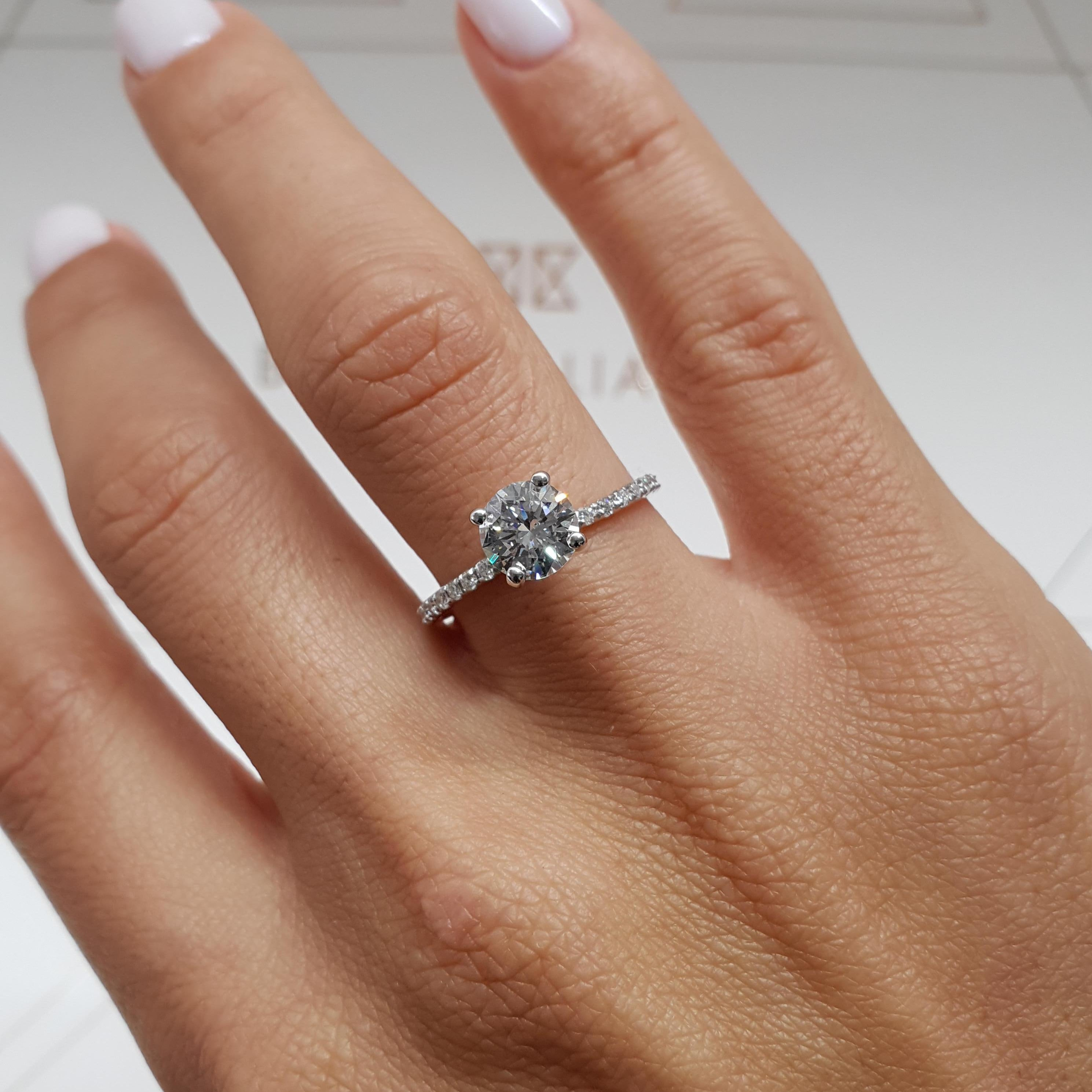 The Vivienne Engagement Ring - 1.35 Carat D VS2 Round
