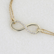 Load image into Gallery viewer, 14K Yellow Gold Infinity Bracelet style set with Diamond #J99976