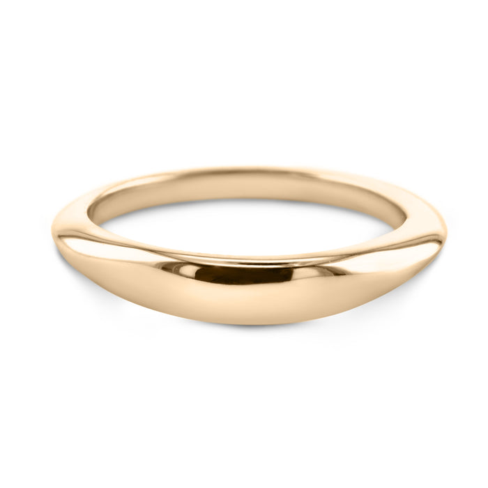 18K Yellow Gold Solitaire Wedding Band Model #206W_RDY2