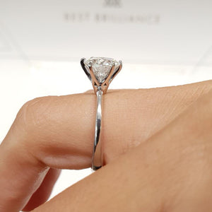 The Samantha Engagement Ring  - 2 CARAT E VVS2 - 6 PRONGS DIAMOND RING #J99941