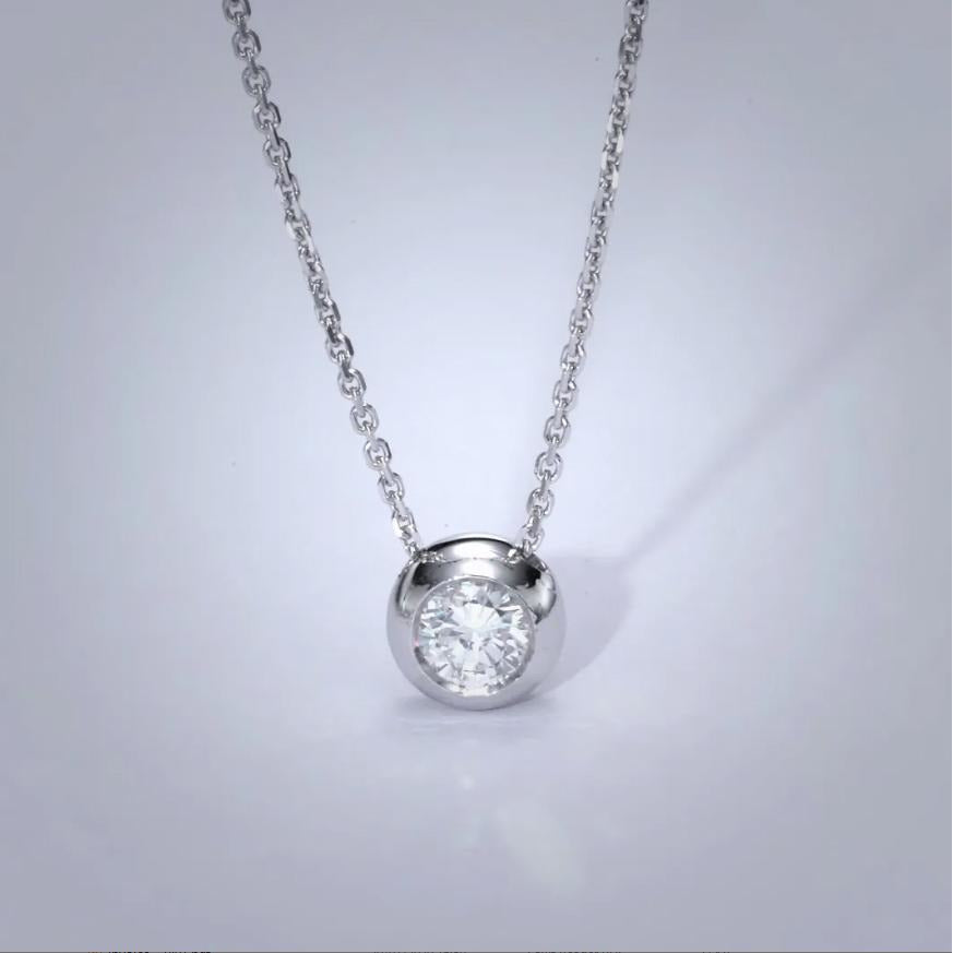 The Dorothy Necklace - 1 Carat Bezel Style Pendant