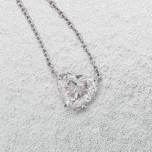The Betty Necklace - 1 Carat Heart Shape Pendant