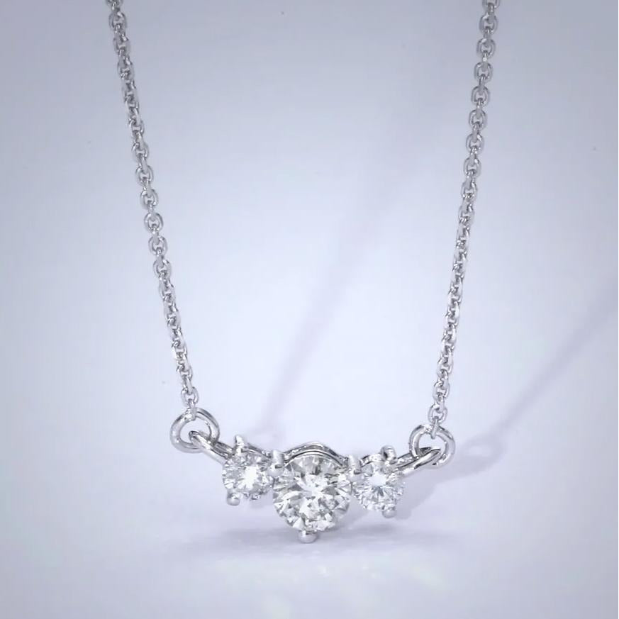 The Susan Necklace - 1.4 Carat Three Stones Style Pendant