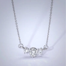 Load image into Gallery viewer, The Susan Necklace - 1.4 Carat Three Stones Style Pendant