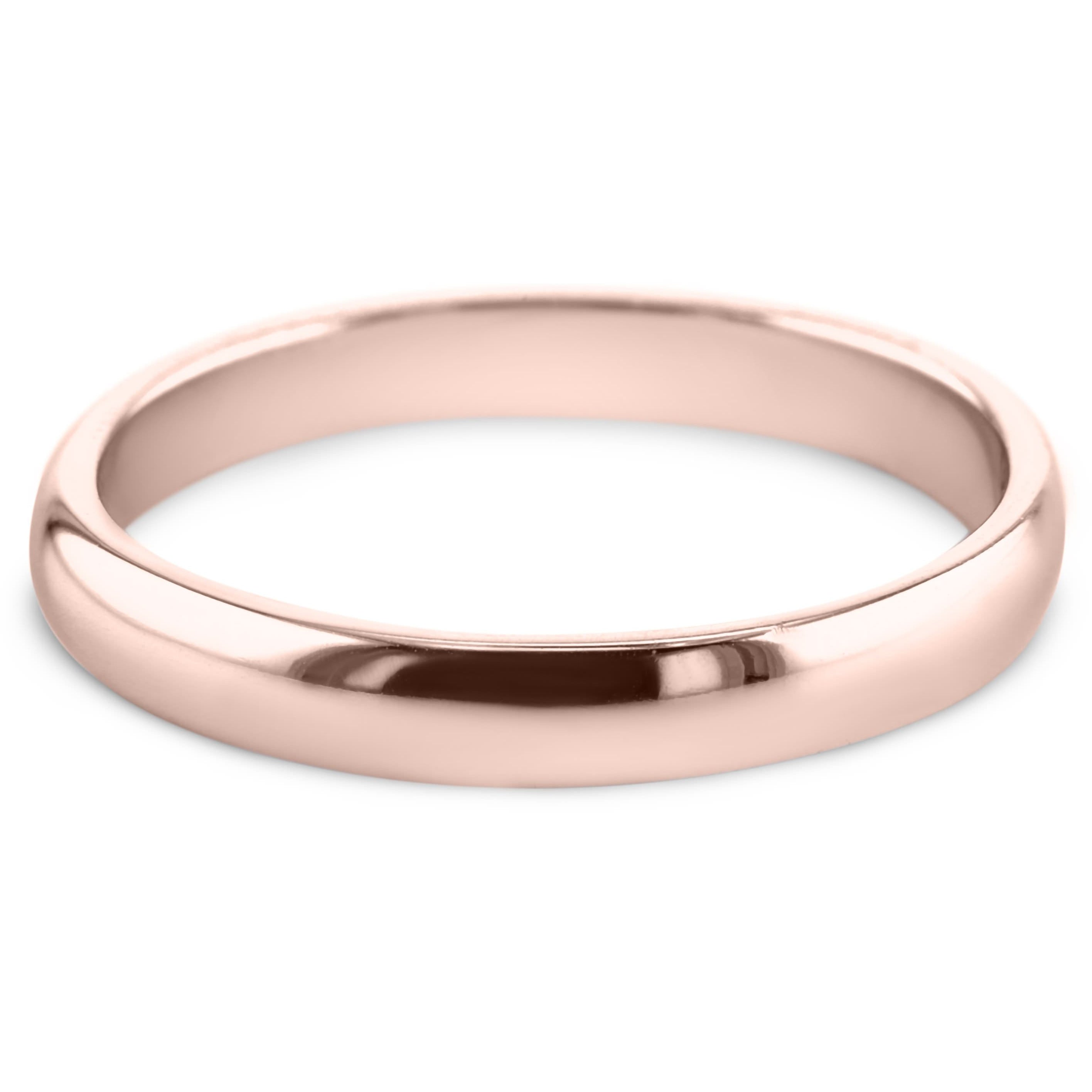 14K Rose Gold Solitaire Wedding Band Model #531W_RDR