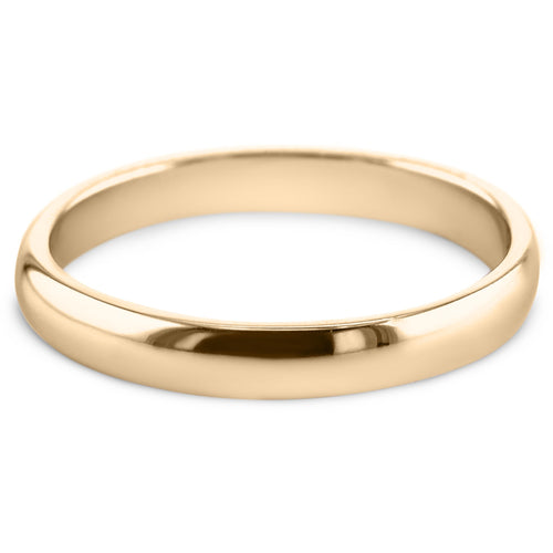 18K Yellow Gold Solitaire Wedding Band Model #531W_RDY2