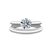 Load image into Gallery viewer, 1.5 CARAT ROUND BRILLIANT E VVS2 SOLITAIRE DIAMOND ENGAGEMENT RING - 18K WHITE GOLD #J99952