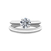 1.5 CARAT ROUND BRILLIANT E VVS2 SOLITAIRE DIAMOND ENGAGEMENT RING - 18K WHITE GOLD #J99952