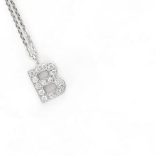 "Load image into Gallery viewer, Letter ""B"" Fashion Bracelet set with diamonds on 14K White Gold #J99984 - Best Brilliance"