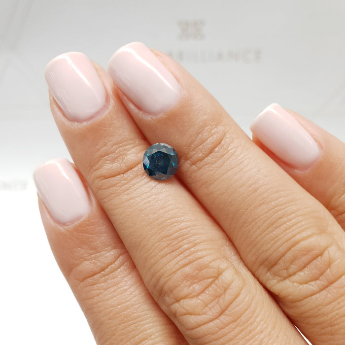 1.19 Carat Round Fancy Deep Blue SI2 Certified Loose Diamond