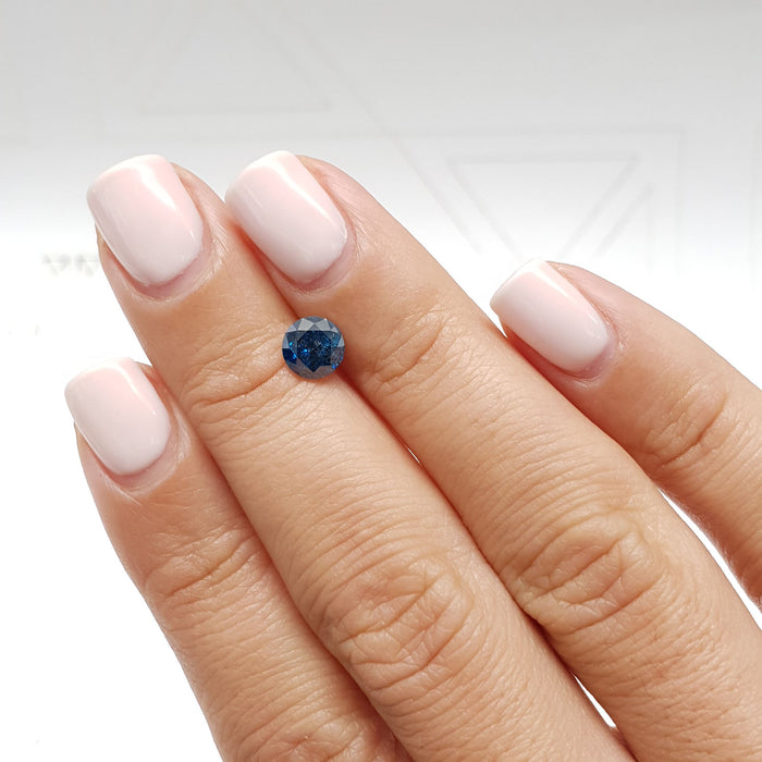 1.06 Carat Round Fancy Deep Blue I1 Certified Loose Diamond