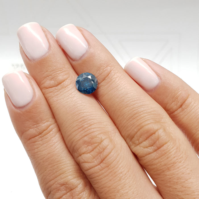 1.80 Carat Round Fancy Deep Blue I1 Certified Loose Diamond