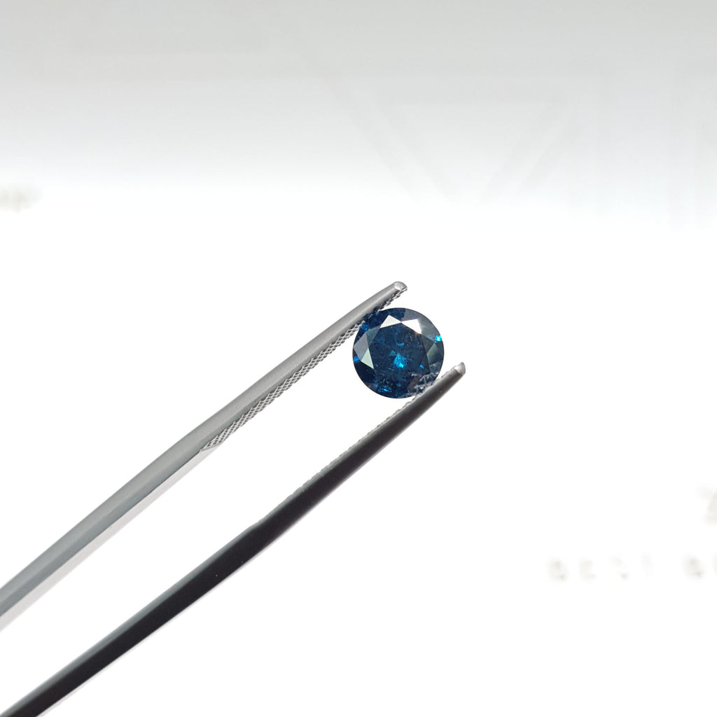 0.95 Carat Round Fancy Deep Blue SI2 Certified Loose Diamond
