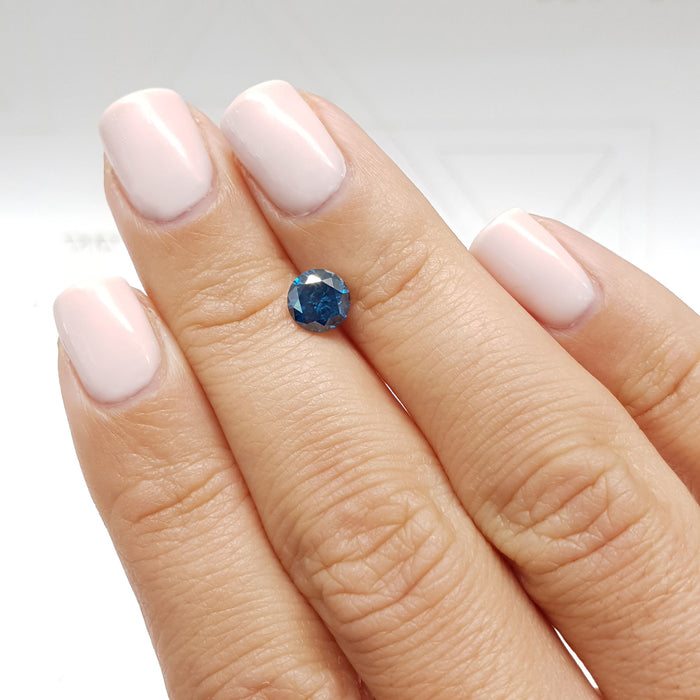 1.00 Carat Round Fancy Deep Blue SI2 Certified Loose Diamond