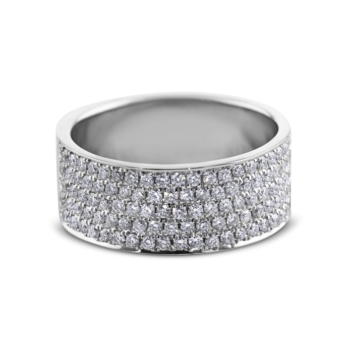 1 Carat Diamond Wedding Band - 18K White Gold Channel Setting #631W_RD2