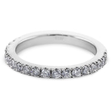 Load image into Gallery viewer, 1/2 Carat Diamond Wedding Band - 14K White Gold Classic Setting #633W_RD