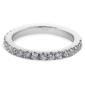 1/2 Carat Diamond Wedding Band - 14K White Gold Classic Setting #633W_RD