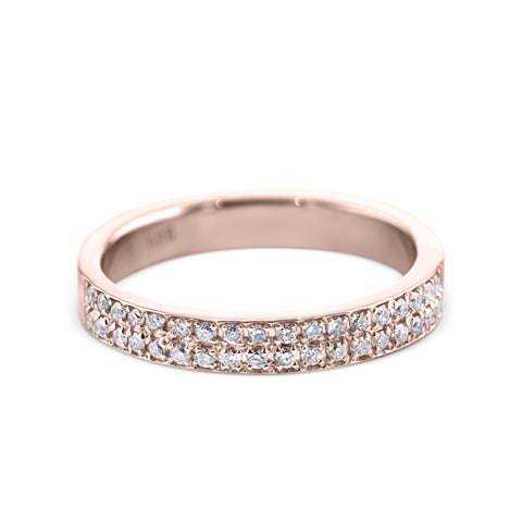 0.2 Carat Diamond Wedding Band - 18K Rose Gold Channel Setting #717W_RDR2