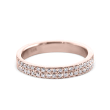 Load image into Gallery viewer, 0.2 Carat Diamond Wedding Band - 14K Rose Gold Channel Setting #717W_RDR