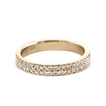 Load image into Gallery viewer, 0.2 Carat Diamond Wedding Band - 18K Yellow Gold Channel Setting #717W_RDY2