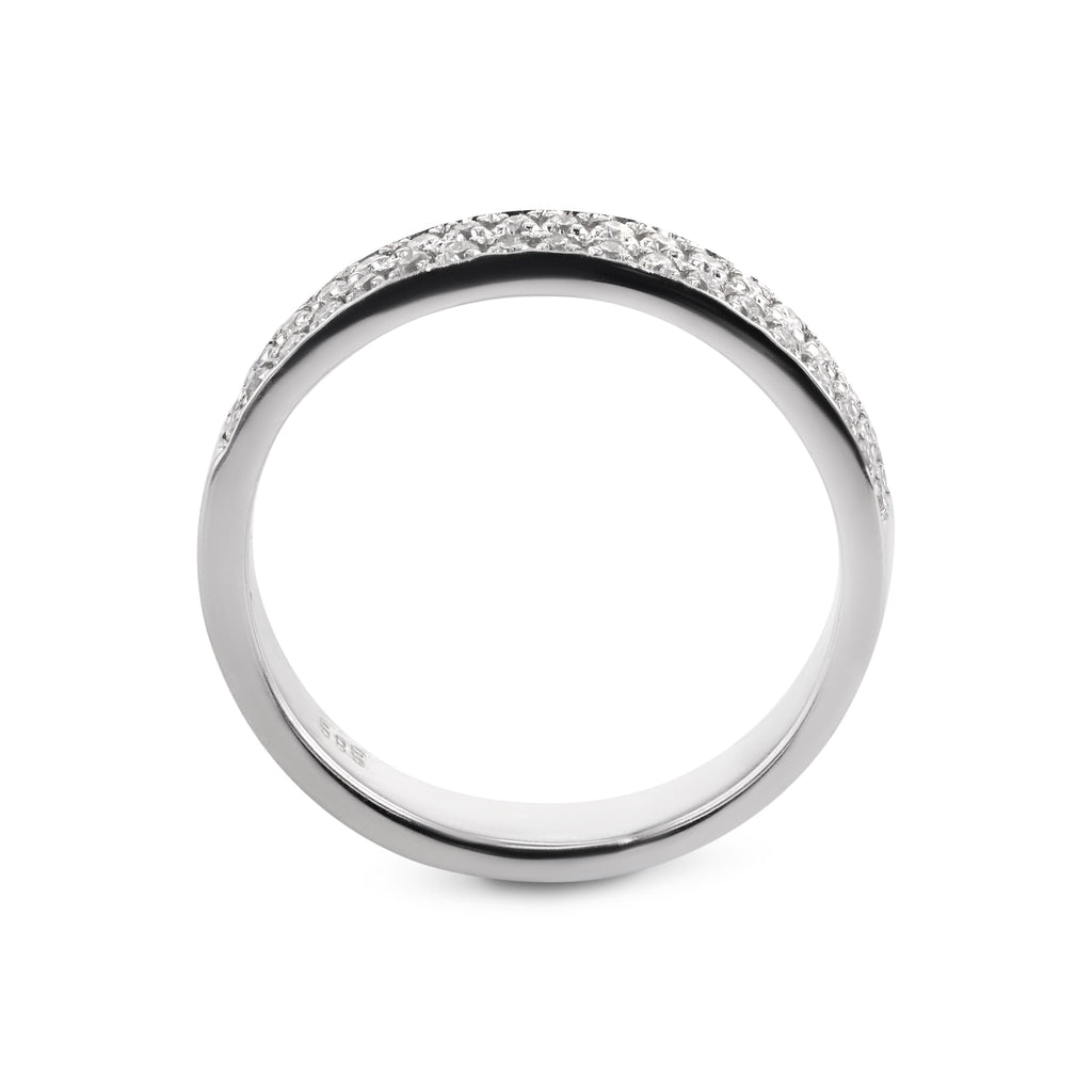 0.2 Carat Diamond Wedding Band - Platinum Channel Setting #717W_RD3
