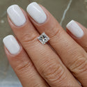 18K White Gold Ring model 538 Set with 1.38 Carat Princess D VS1 Certified Diamond