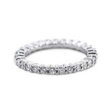 Load image into Gallery viewer, 1 Carat Diamond Eternity Wedding Band - 14K White Gold