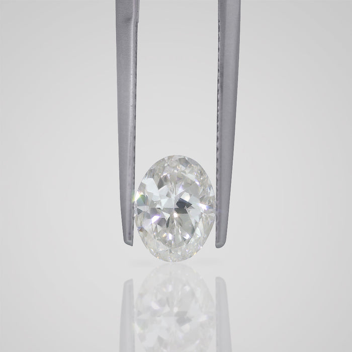 1.71 Carat Oval G SI1 Natural Certified Loose Diamond - Best Brilliance