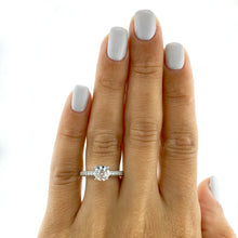 Load image into Gallery viewer, 18K WHITE GOLD BEAUTIFUL PAVE STYLE LAB GROWN DIAMOND ENGAGEMENT RING #LG10020