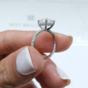2 CARAT RADIANT SHAPED DIAMOND ENGAGEMENT RING - 14K WHITE GOLD