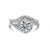 1.5 CARAT D VS TWISTED DESIGN ENGAGEMENT & WEDDING RINGS SET - 14K WHITE GOLD #J99957