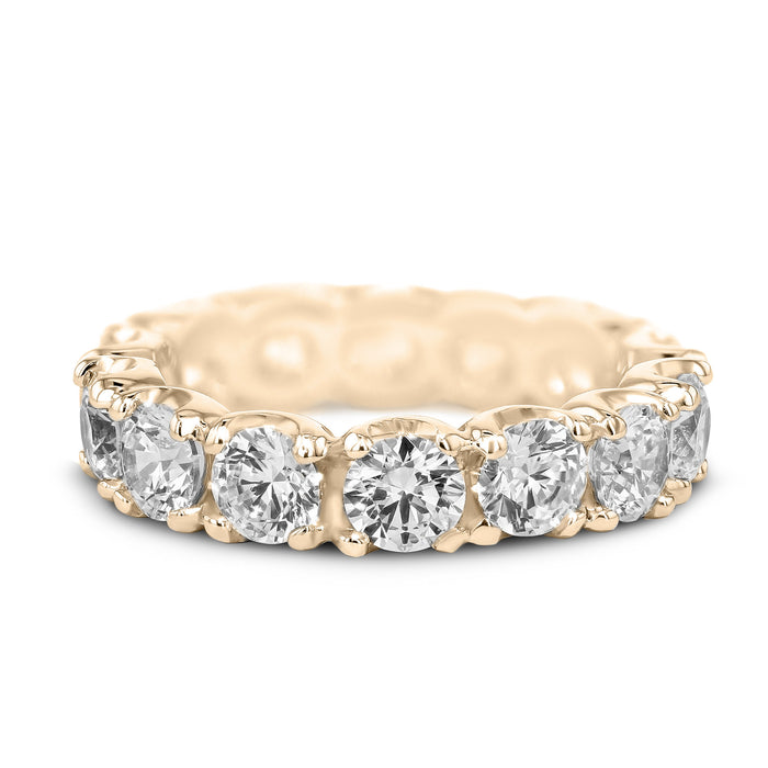 4 Carat Diamond Wedding Band - 18K Yellow Gold Eternity Setting #E205_RDY2