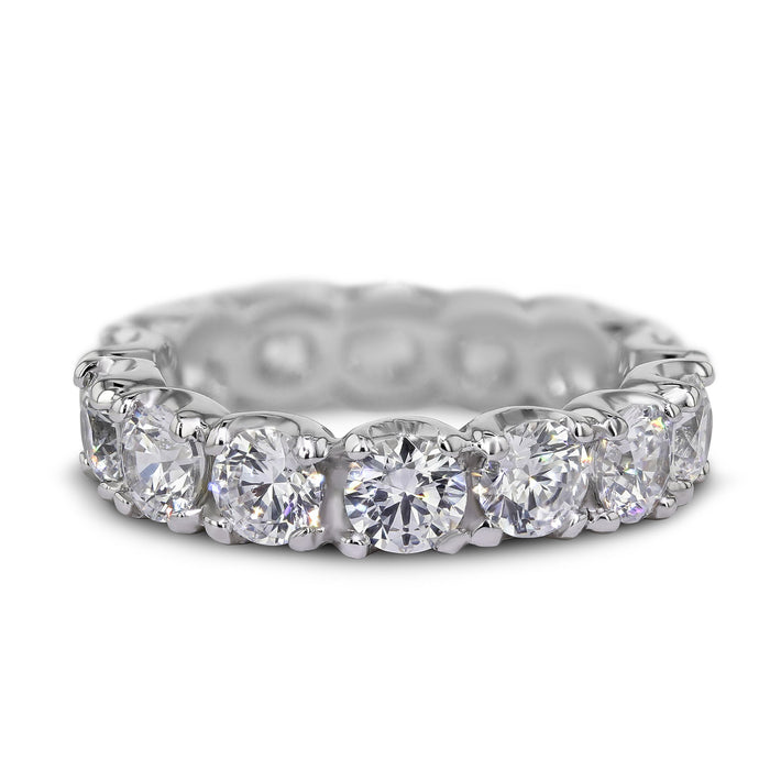 4 Carat Diamond Wedding Band - Platinum Eternity Setting #E205_RD3